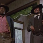 Sidney Poitier and Harry Belafonte in Buck and the Preacher (1972)